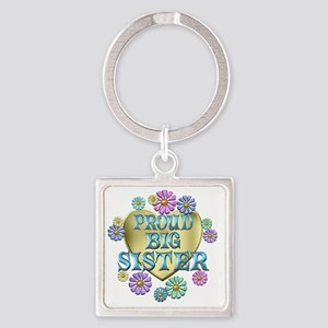 PROUDBIGSISTER Square Keychain