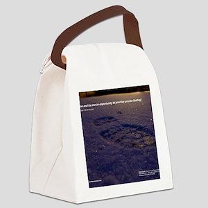 Predawn Runner Calendar - January Canvas Lunch Bag
