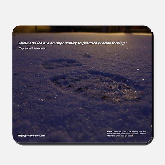Predawn Runner Calendar - January Mousepad
