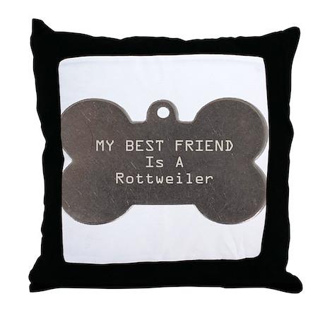 Friend Rottweiler Throw Pillow
