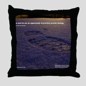 Predawn Runner Calendar - January Throw Pillow