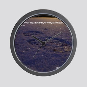 Predawn Runner Calendar - January Wall Clock