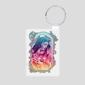 Most Pure Heart of Mary (b Aluminum Photo Keychain