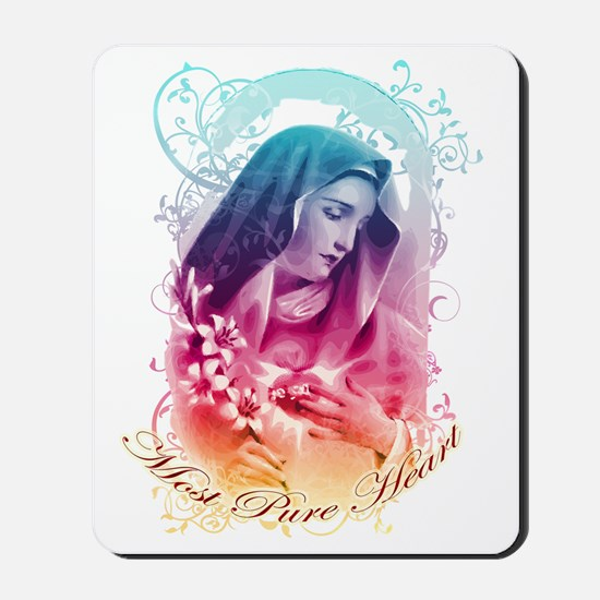 Most Pure Heart of Mary (vertical) Mousepad