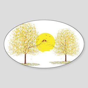 LOVEBIRDS Sticker (Oval)
