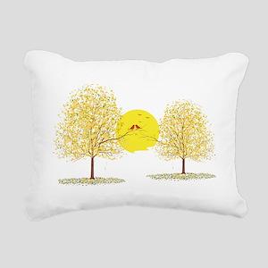 LOVEBIRDS Rectangular Canvas Pillow