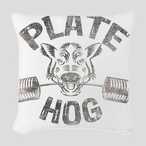 Plate Hog Woven Throw Pillow