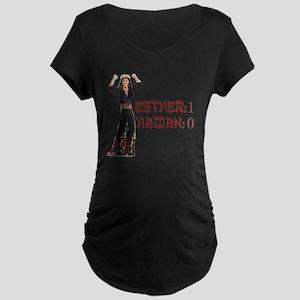 purim Maternity Dark T-Shirt