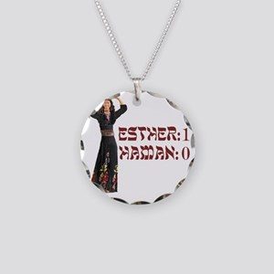purim Necklace Circle Charm