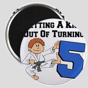 Karate Fifth Birthday Magnet