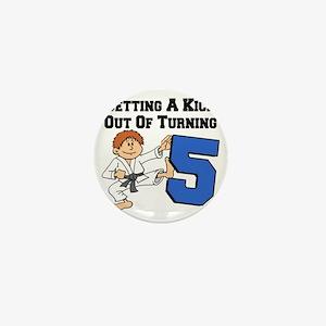 Karate Fifth Birthday Mini Button