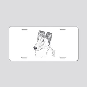 Smooth Collie sable Aluminum License Plate