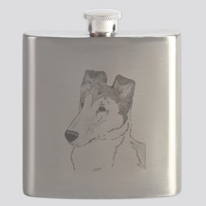 Smooth Collie sable Flask