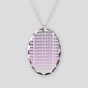district818_fade Necklace Oval Charm