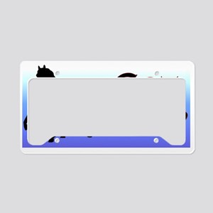 PPsilBlueFadeFade License Plate Holder