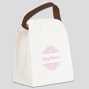 Ring bearer in pink Canvas Lunch Bag