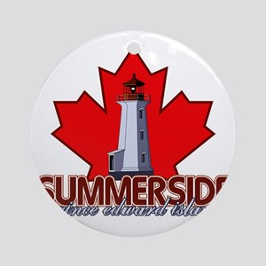 Summerside Lighthouse Round Ornament