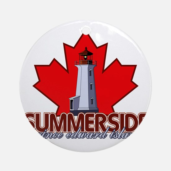Summerside Lighthouse Round Ornament