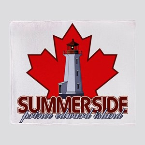 Summerside Lighthouse Throw Blanket