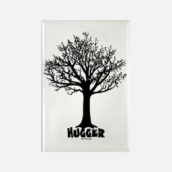TREE hugger (black) Rectangle Magnet