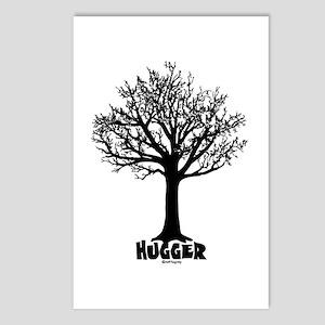 TREE hugger (black) Postcards (Package of 8)