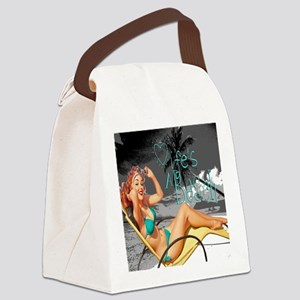lifes a beach toterev Canvas Lunch Bag