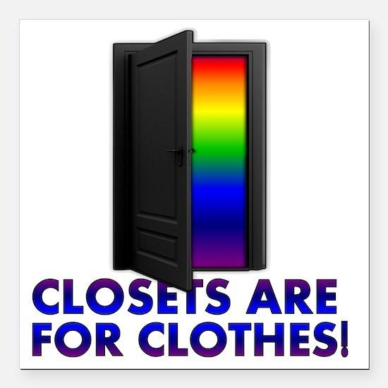 "closets_lt_cp Square Car Magnet 3"" x 3"""