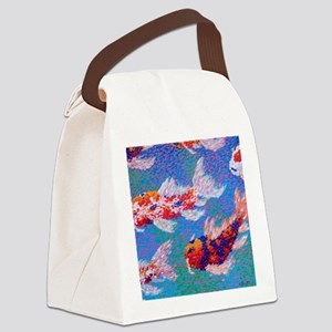 Koi Light Canvas Lunch Bag