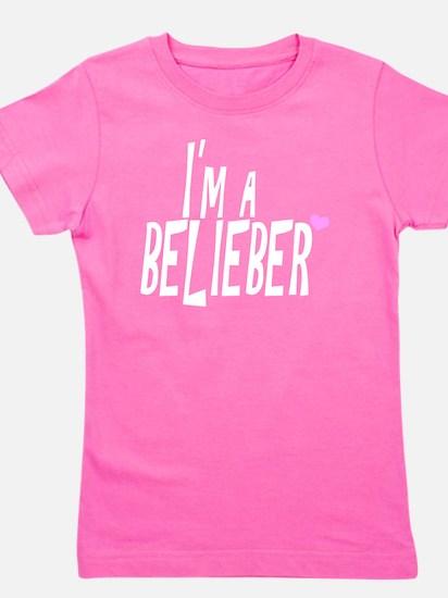 belieber-tshirt-white Girl's Tee
