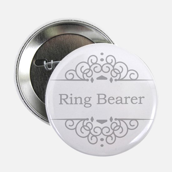 "Ring bearer in silver 2.25"" Button"