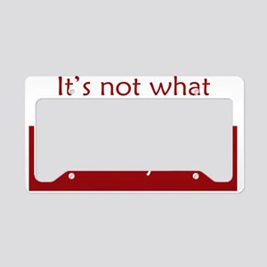 whatyoudo_rect2 License Plate Holder