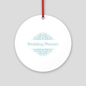 Wedding Planner in blue Ornament (Round)
