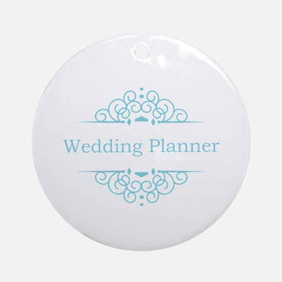 Wedding Planner in blue Ornament (Round)