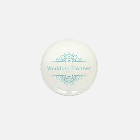 Wedding Planner in blue Mini Button