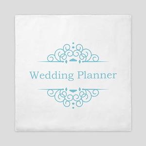 Wedding Planner in blue Queen Duvet