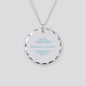 Wedding Planner in blue Necklace Circle Charm