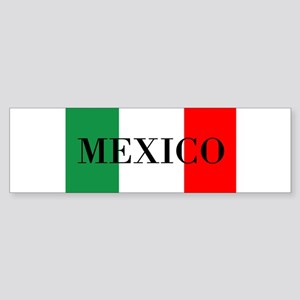 Mexico Flag Colors Bumper Sticker