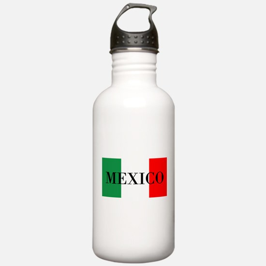 Mexico Flag Colors Water Bottle