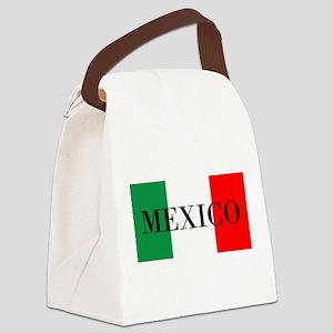 Mexico Flag Colors Canvas Lunch Bag