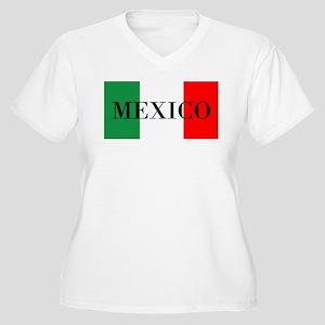 Mexico Flag Colors Plus Size T-Shirt