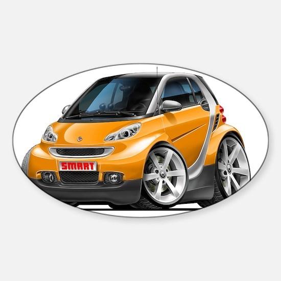 Smart Orange Car Sticker (Oval)