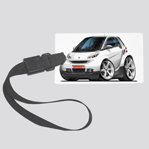 Smart White Car Large Luggage Tag