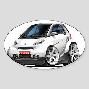 Smart White Car Sticker (Oval)