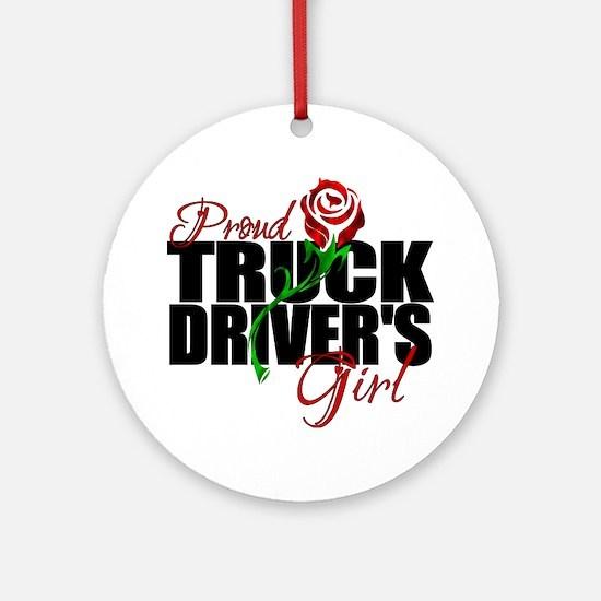 truckersgirl Round Ornament