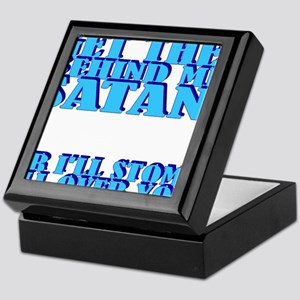 Get The Behind Me Satan (clock face) Keepsake Box