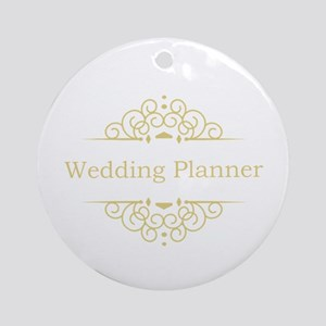 Wedding Planner in gold Ornament (Round)