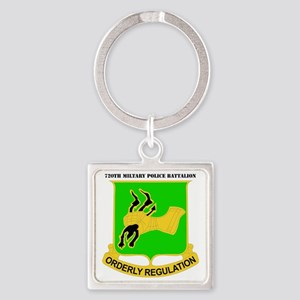 DUI-720TH MILITARY PLC BN WITH TEX Square Keychain