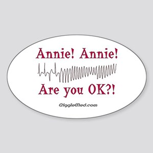 Annie! Annie! 2 Oval Sticker