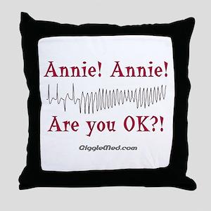 Annie! Annie! 2 Throw Pillow