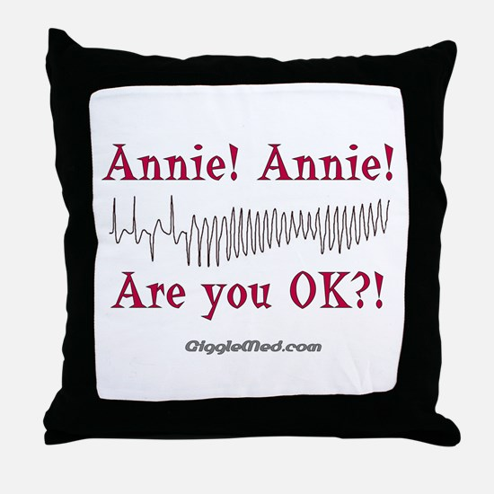 Annie! Annie! 2 Throw Pillow